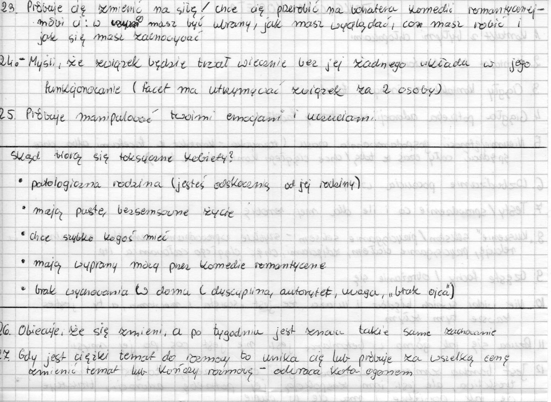 toksyczne kobiety - podsumowanie czytelnika cz.2